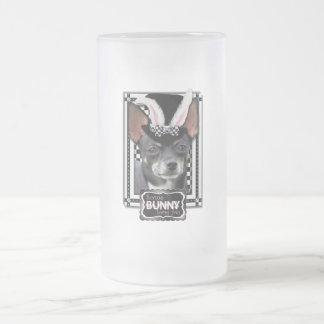 Påsk - någon kanin älskar dig - Chihuahua Frostat Ölglas