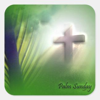 Påsk och palmsöndagkor och platser fyrkantigt klistermärke