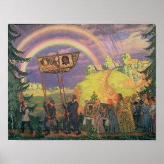 Påsk Procession, 1915 Poster