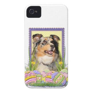 Påskäggkakor - australian shepherd iPhone 4 Case-Mate fodral
