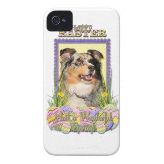 Påskäggkakor - australian shepherd iPhone 4 hud