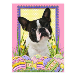 Påskäggkakor - Boston Terrier Vykort