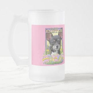 Påskäggkakor - Chihuahua Frostat Ölglas