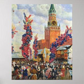 Påsken marknadsför på Moscowen Kremlin, 1917 Poster