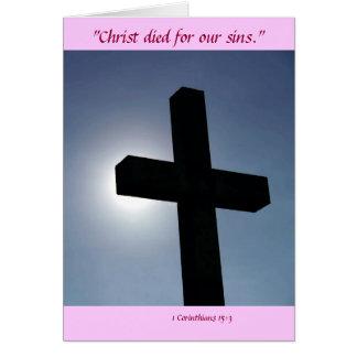 Påsken som den arga Kristus dog för vårt, syndar Hälsningskort