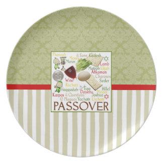Påskhögtidord Seder pläterar Tallrikar