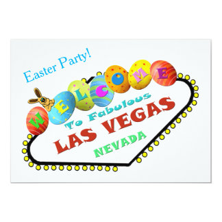 Påskparty i den Las Vegas inbjudan 12,7 X 17,8 Cm Inbjudningskort