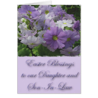 Påskvälsignelsedotter & Son-I-Lag Primrose Hälsningskort