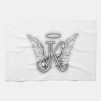 Påskyndar det initiala brev för ängelalfabet K Kökshandduk