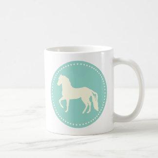 Paso Fino hästSilhouette Kaffemugg