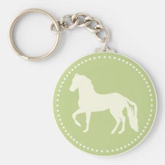 Paso Fino hästSilhouette Rund Nyckelring