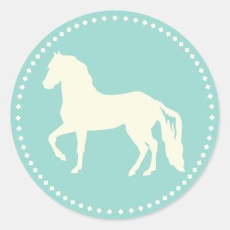 Paso Fino hästSilhouette Runt Klistermärke