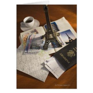 Pass och memorabilia hälsningskort