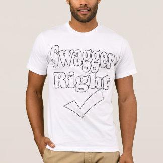 Passade den högra Kontroll-T-Skjortan för Swagger Tshirts