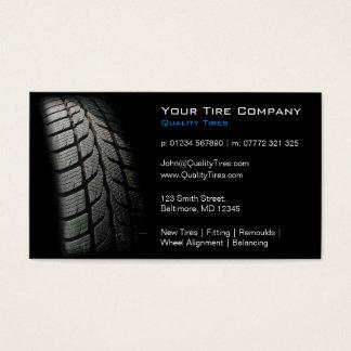 Passande visitkort för svart däck