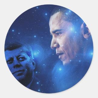 Passera av facklan, John F. Kennedy Barack Obama Runt Klistermärke
