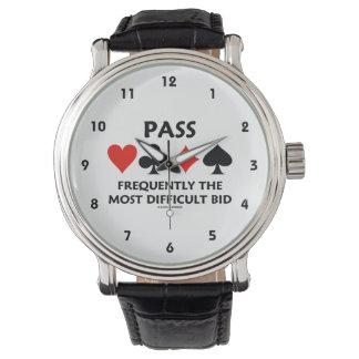 Passera det svåraste anbud överbryggar vanligt armbandsur
