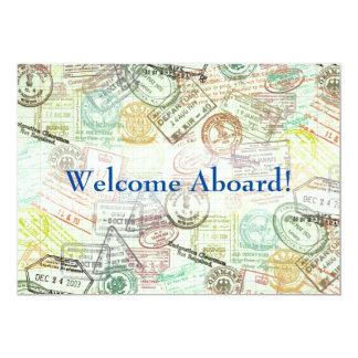 Passfrimärket reser inbjudan Kort-Tackar dig