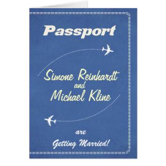 Passinbjudan eller Spara--Daterar det Retro Hälsningskort