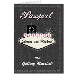 Passinbjudan eller Spara--Daterar LAS VEGAS Hälsningskort