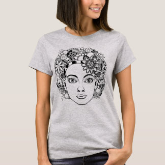 """""""Passion"""" kvinna teckning för ansikte med T Shirts"""