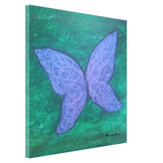 Passionerad original- Handpainted fjärilsabstrakt Canvastryck