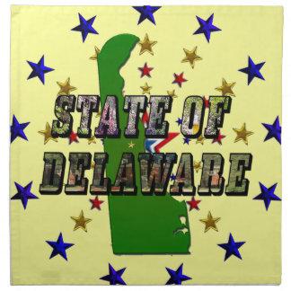 Påstå av Delaware bildtext och kartlägga Tygservett
