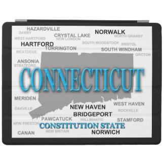 Påstå av den Connecticut kartan, Hartford, New iPad Skydd