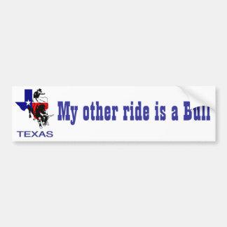 Påstå av ryttare för Texas Rodeotjur Bildekal