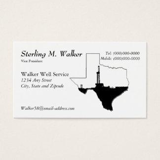 Påstå av Texas och olja borranderiggen Visitkort