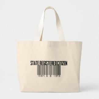 Påstå registrerings tote bag