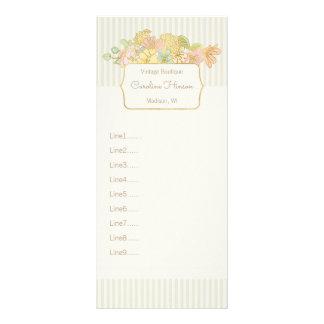 Pastell blommar kuggekortet med Fauxguld Reklamkort