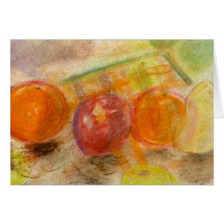 Pastell för fruktordningsnr. 1 noterar kortet OBS kort