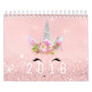 Pastell för guld för rosa ros för glitter för kalender