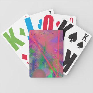Pastell för vårfeberabstrakt som leker kort spelkort