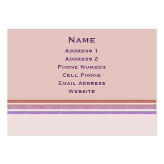 Pastell görar randig affär set av breda visitkort