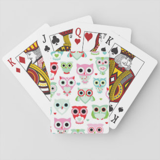 pastell pudrar färgugglabakgrund casinokort