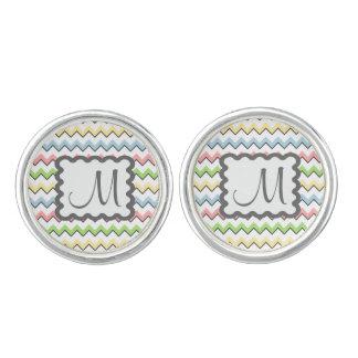 Pastell Sparre-Tappar skuggar med monogramen Manschettknappar