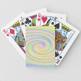 Pastell virvlar runt leka kort spelkort