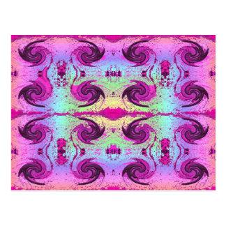 pastell virvlar runt vykort