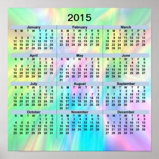 Pastellfärgad affisch för 2015 kalender