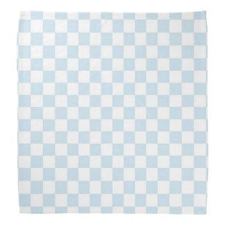 Pastellfärgad blått- och vitschackbräde scarf