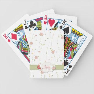 Pastellfärgad blommigt som leker kort spelkort
