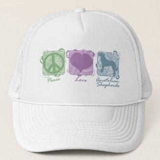 Pastellfärgad fred, kärlek och Anatolian shepherds Truckerkeps