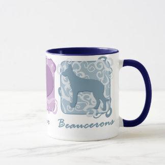 Pastellfärgad fred, kärlek och Beaucerons Mugg