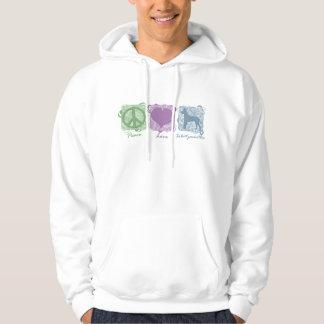 Pastellfärgad fred, kärlek och Xoloitzcuintlis Hoodie