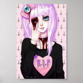Pastellfärgad goth poster