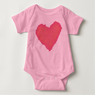 Pastellfärgad hjärta t-shirt