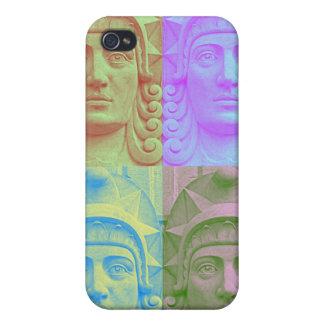 Pastellfärgad iphone case för huvud för popart iPhone 4 fodral