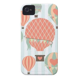 Pastellfärgad luftballongresning på blåttrandar Case-Mate iPhone 4 skydd